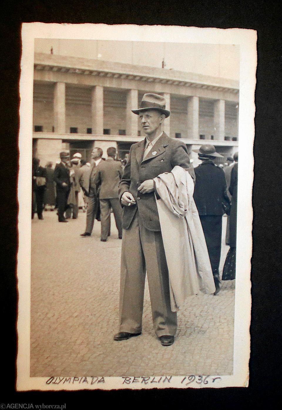 Marian Lubina podczas igrzysk w Berlinie w 1936 roku