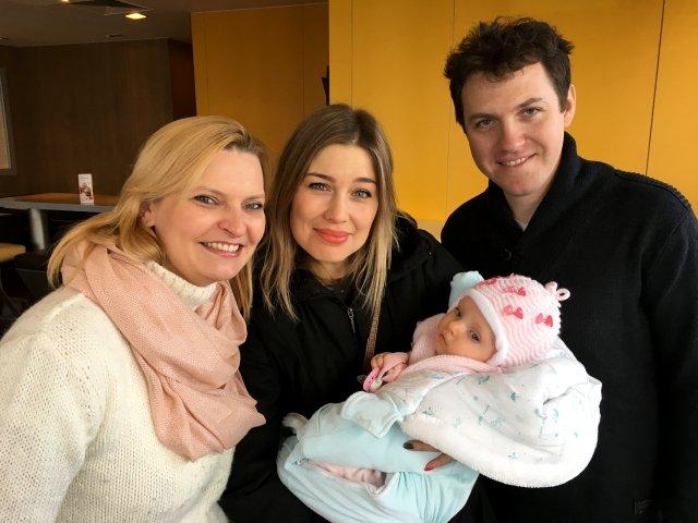 Joanna Kowalczyk z rodzicami Neli