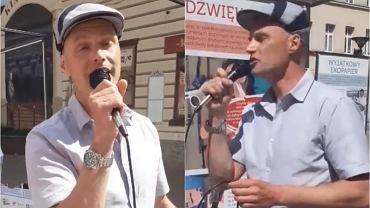 Syn Krzysztofa Krawczyka na ulicy śpiewał utwory ojca. Do sieci trafiły nagrania