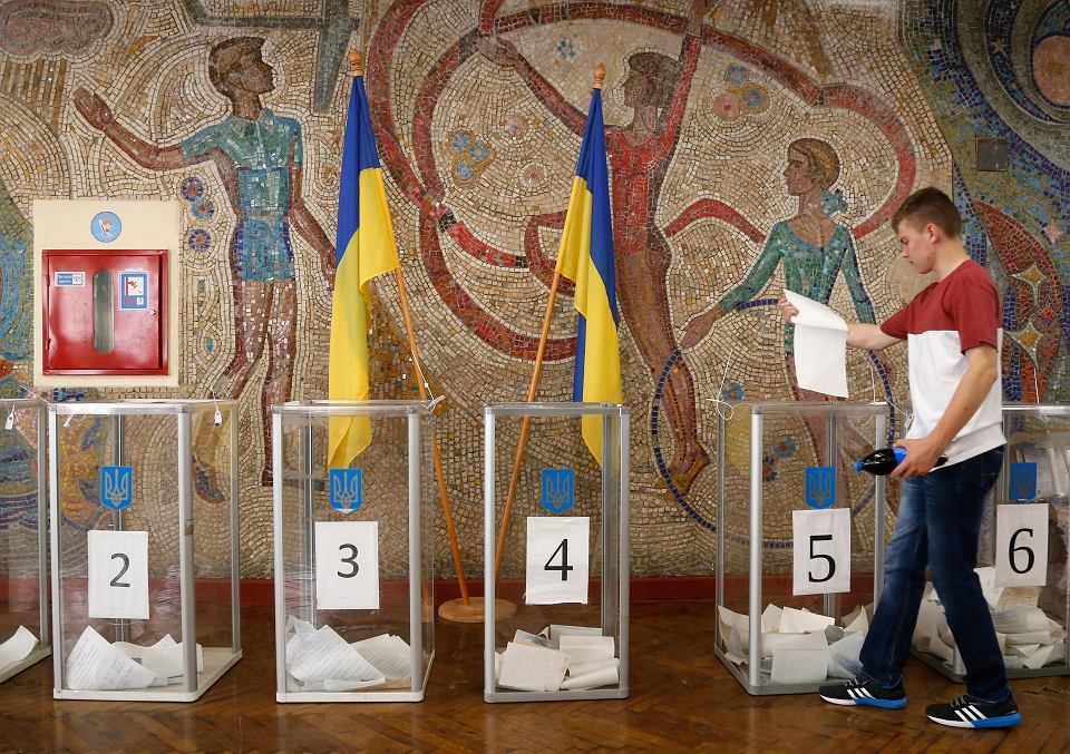21.07.2019, Kijów, Ukraina, głosowanie w wyborach parlamentarnych.