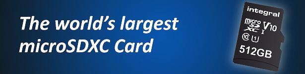 Integral Memory stworzyło kartę MicroSD o pojemności 512 GB