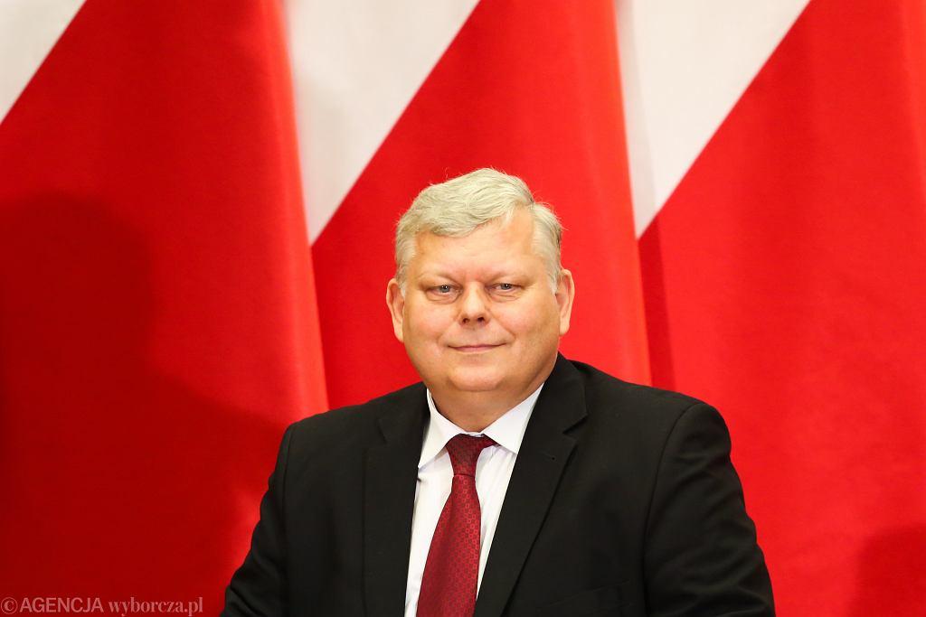 Poseł Marek Suski, prezydent miasta Andrzej Kosztowniak i posłanka Marzena Wróbel