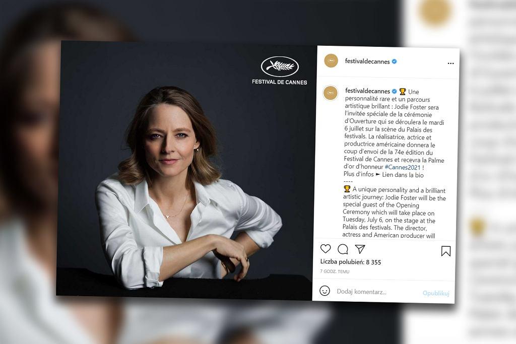 74. Festiwal Filmowy w Cannes. Jodie Foster laureatką honorowej Złotej Palmy