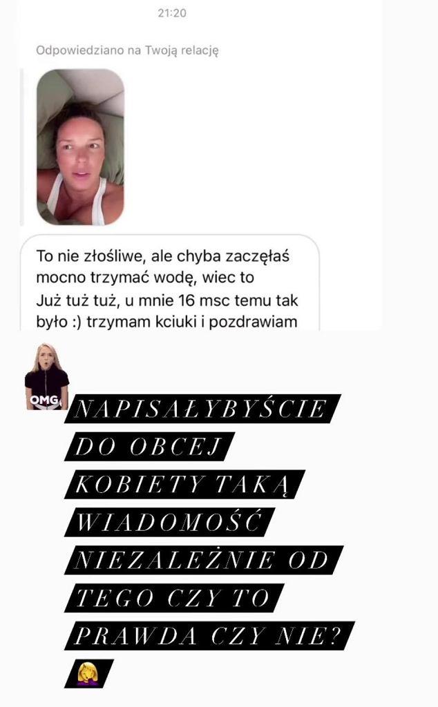 Agnieszka Włodarczyk pokazała, jakie wiadomości dostaje w ciąży. 'To nie złośliwe, ale.'