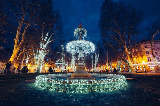 W czasie adwentu Zagrzeb jest pięknie udekorowany ozdobami świątecznymi