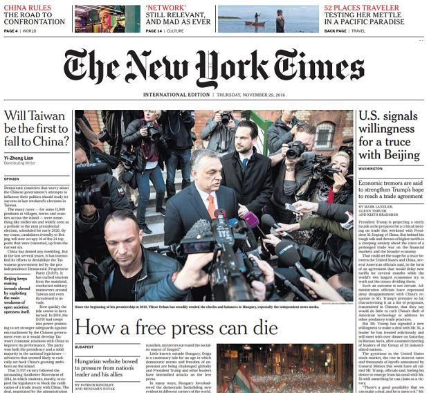 'New York Times', 29.11.2018
