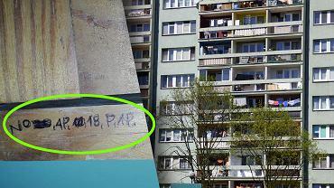 Mieszkańcy Białegostoku odkryli tajemnicze znaki w swoich blokach