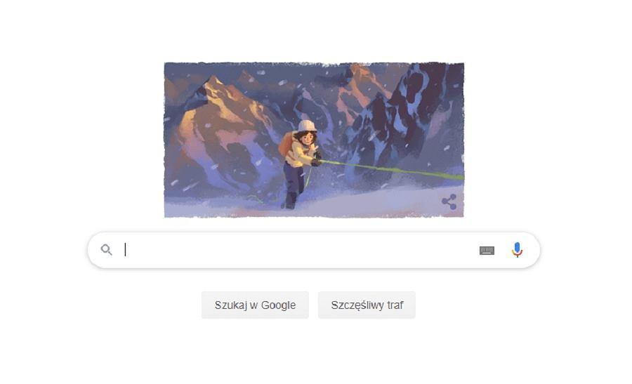 Google Doodle upamiętnił wyczyn Wandy Rutkiewicz