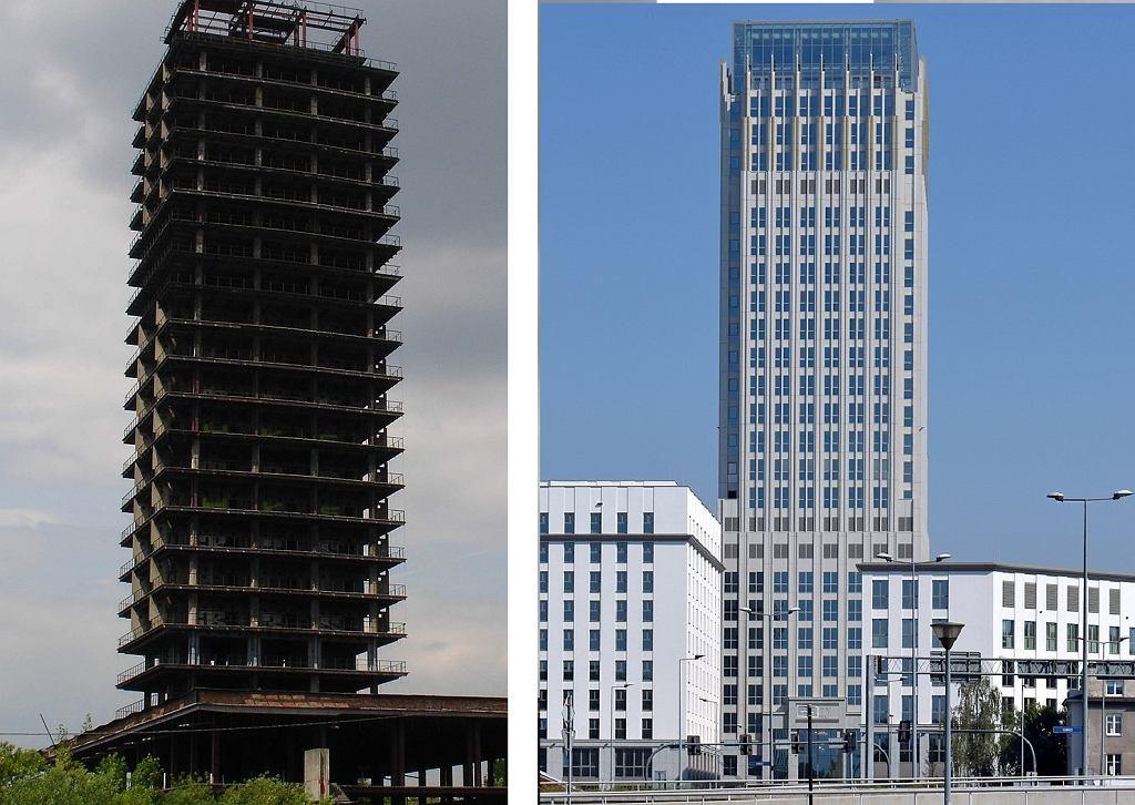 'Szkieletor' (z lewej) i Unity Tower (z prawej)