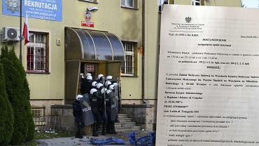 Protest pod Komendą Powiatowa w Lubinie po śmierci Bartka