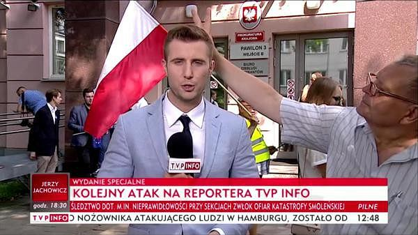 Miłosz Kłeczek w TVP Info