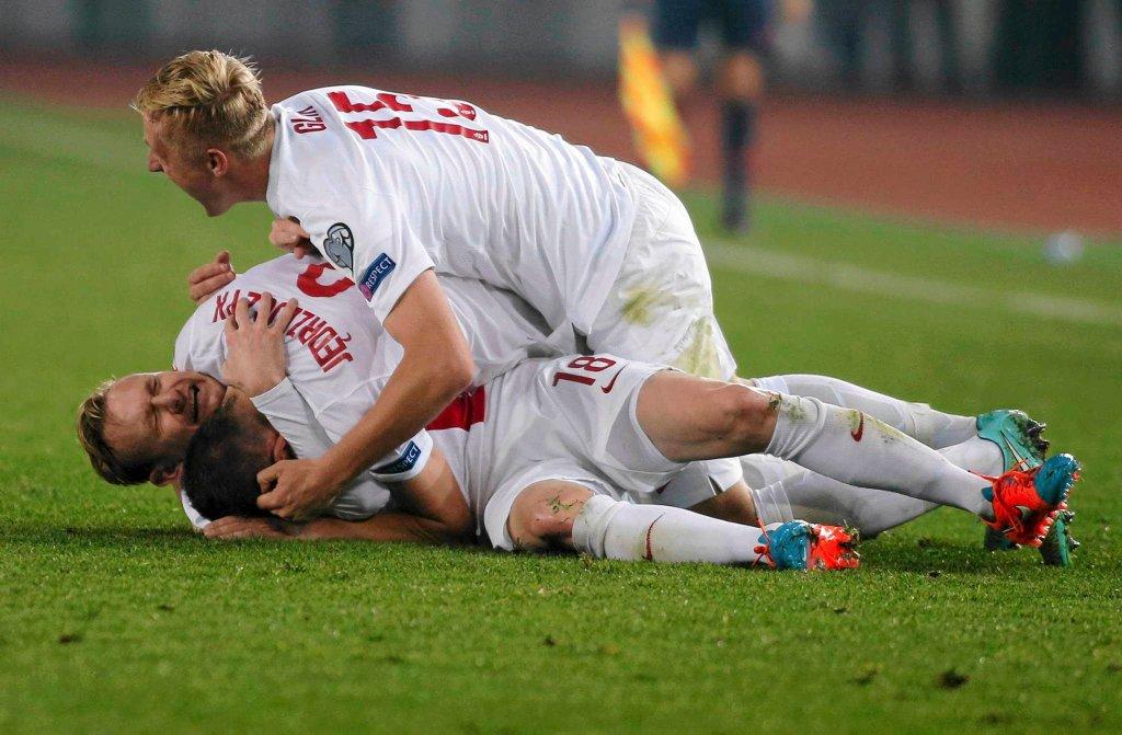Gruzja - Polska 0:4. Radość Polaków