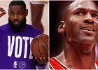 """""""LeBron James wysłał publiczną wiadomość, stwierdzając, że nie jest lepszy od Jordana"""""""
