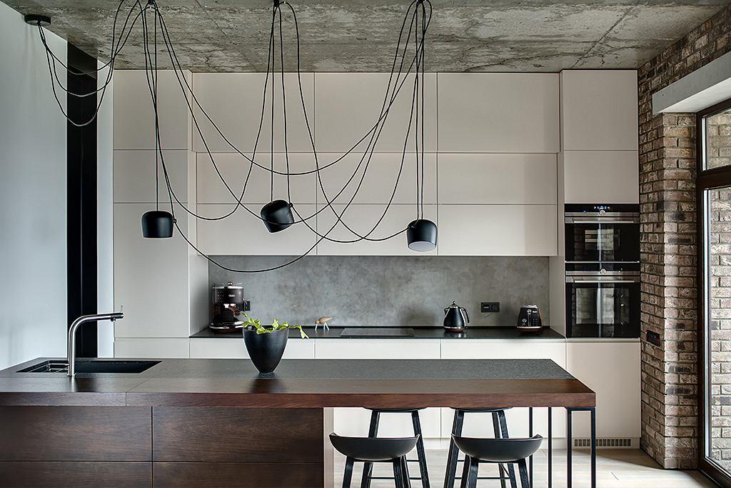 wnętrze kuchni w stylu industrialnym