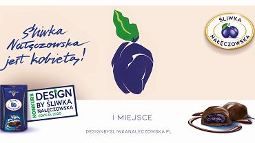 Plakaty inspirowane Śliwką - prace zwycięzców Design by Śliwka Nałęczowska 2020