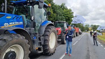 Protest rolników na DK15