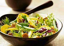 Sałatka z kurek lub innych grzybów - ugotuj