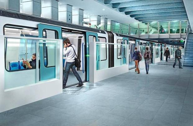 Wizualizacja jednej ze stacji metra w Krakowie