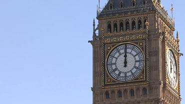 Big Ben na wieży brytyjskiego parlamentu.