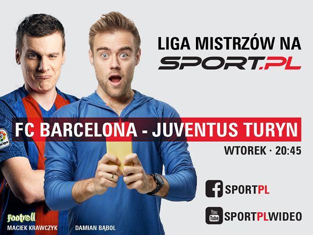 Komentuj i przeżywaj z nami na żywo mecz FC Barcelona - Juventus Turyn na YouTube Sport.pl