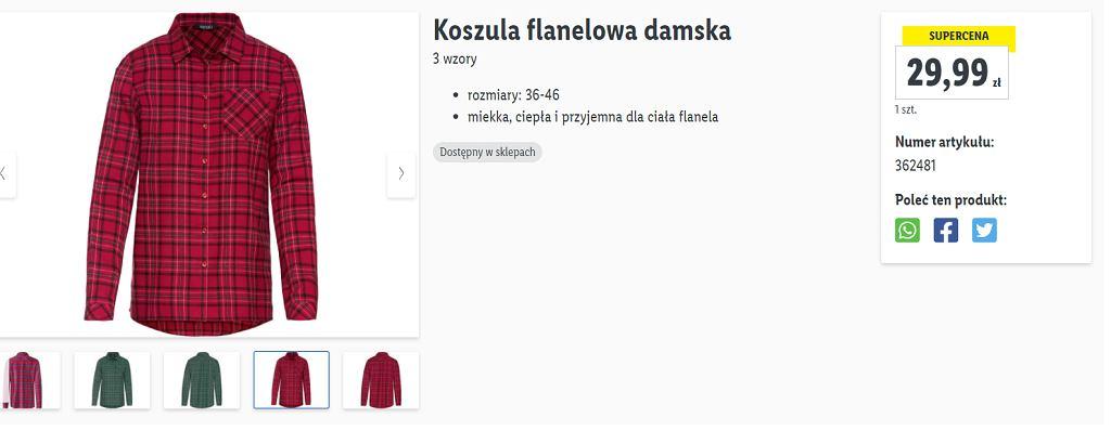 koszula flanelowa damska