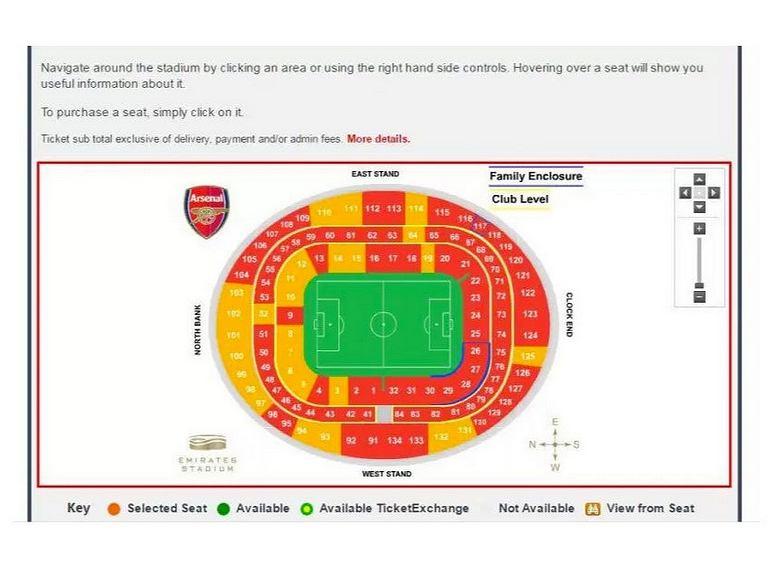 Zapełnienie trybun Arsenalu 3