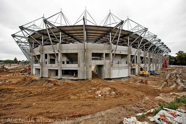 Zdjęcie numer 0 w galerii - Budowa stadionu Widzewa. Widać już napis