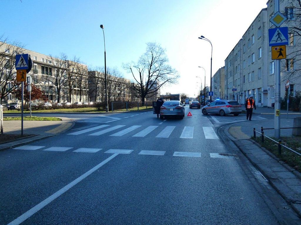 Wypadek na przejściu dla pieszych na ul. Kasprowicza