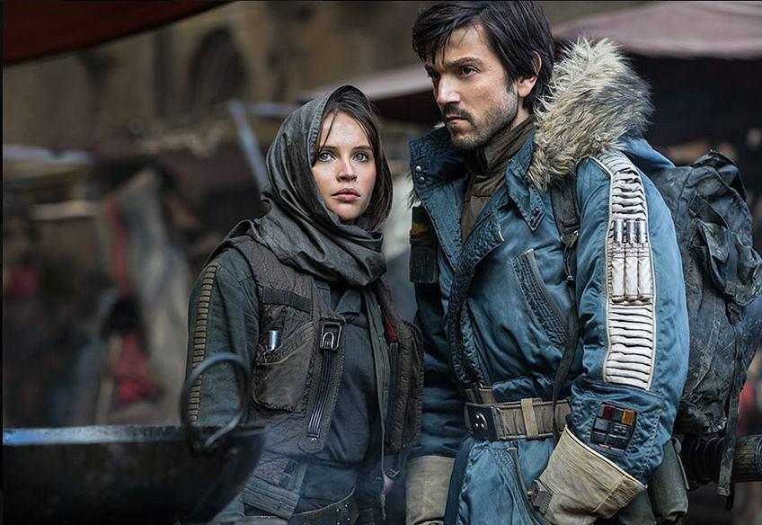 Felicity Jones i Diego Luna w 'Łotr 1. Gwiezdne wojny - historie'