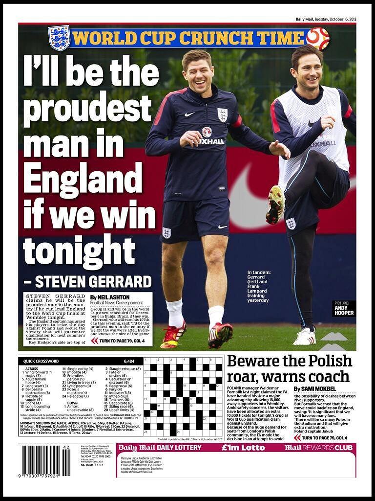 Okładka Daily Mail