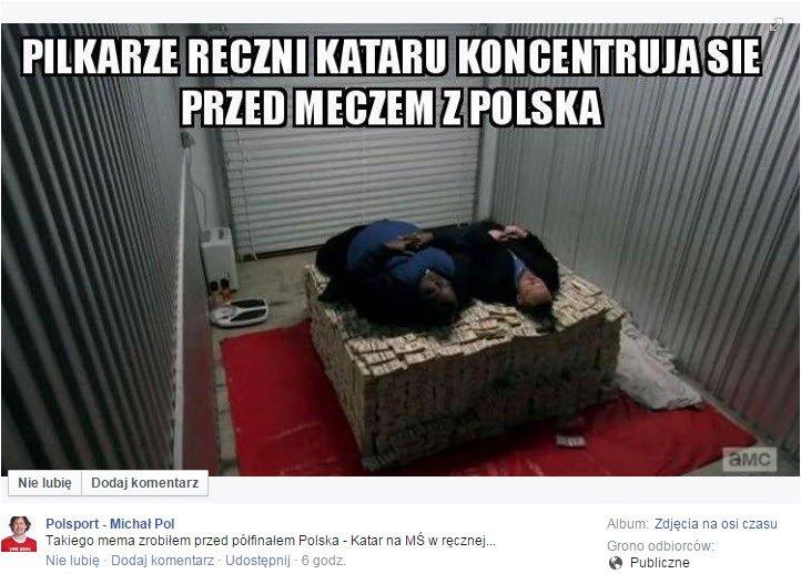 MŚ piłkarzy ręcznych. Internet kpi z Kataru. 'To Katar