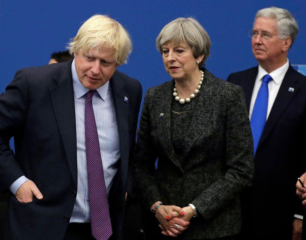 Były minister spraw zagranicznych Boris Johnson i premier Theresa May.