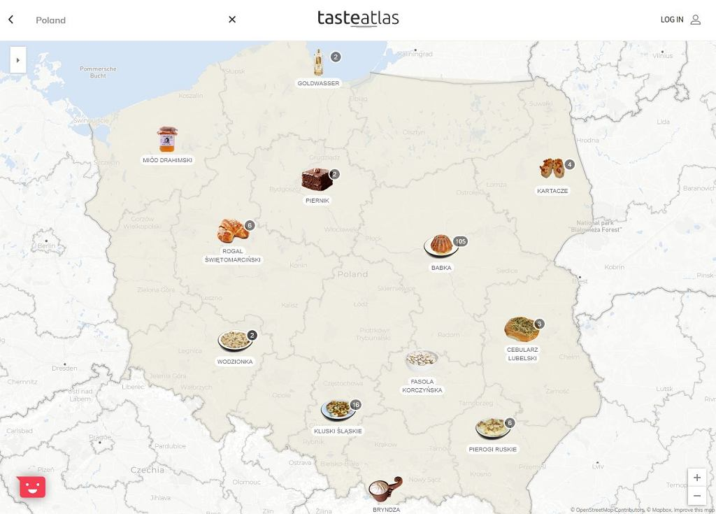 Najpopularniejsze polskie dania przedstawione są na stronie TasteAtlas w podziale na województwa