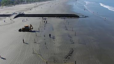 122- letni wrak statku zaczął wynurzać się z piasku