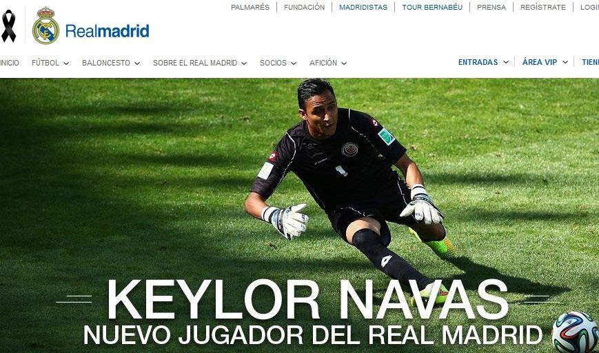 Screen z oficjalnej strony Realu Madryt