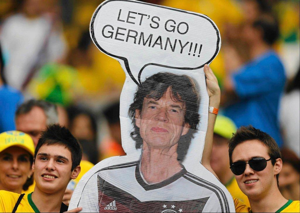 Kibice przed meczem Brazylia - Niemcy