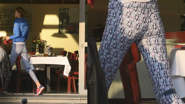 Zdjęcie numer 5 w galerii - Renata Kaczoruk i Kuba Wojewódzki pojechali rowerami na obiad. Ona w BARDZO obcisłych leginsach, ale i tak NAJLEPSZE wydarzyło się później