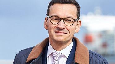 Wicepremier Mateusz Morawiecki w terminalu kontenerowym DCT w Gdańsku