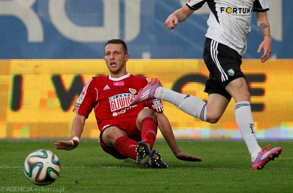 Kamil Wilczek w meczu z Legią
