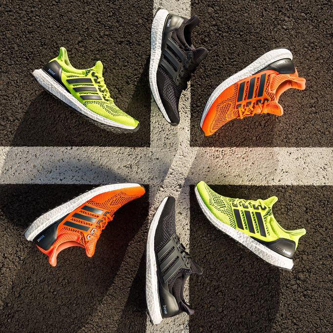 Kolorowe buty biegowe adidas