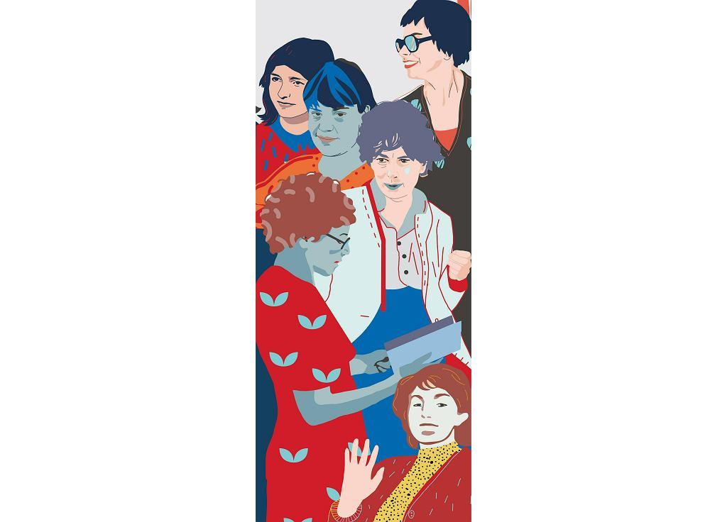 Fragment muralu 'Kobiety Wolności'