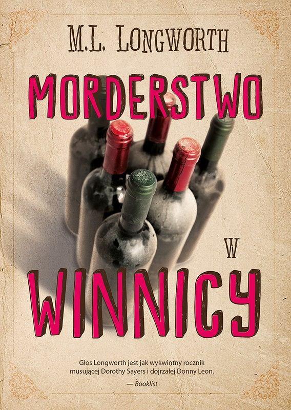 Okładka książki 'Morderstwo w winnicy',  M.L. Longworth