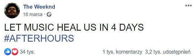 The Weeknd na Facebooku