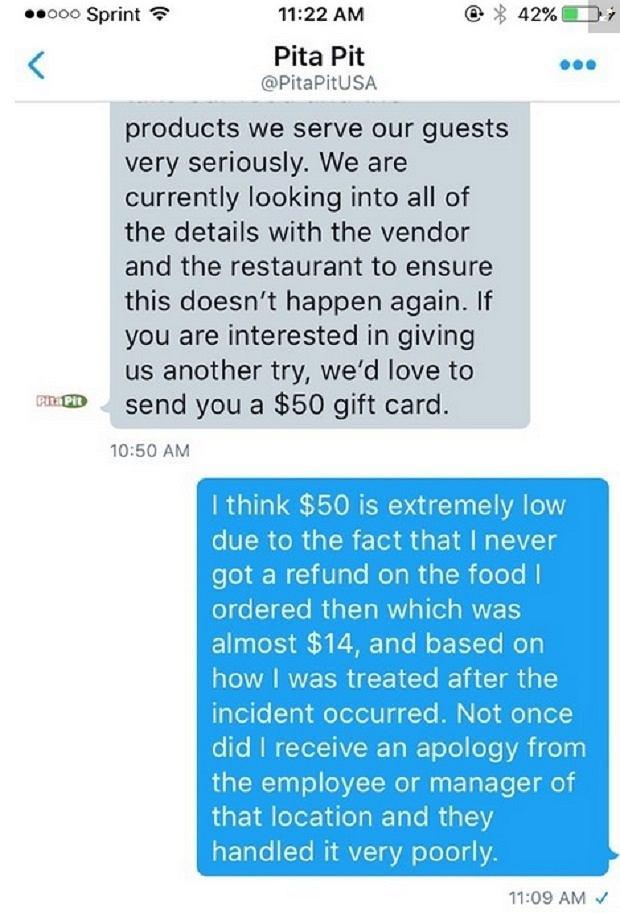 Emily nie była zadowolona z przeprosin