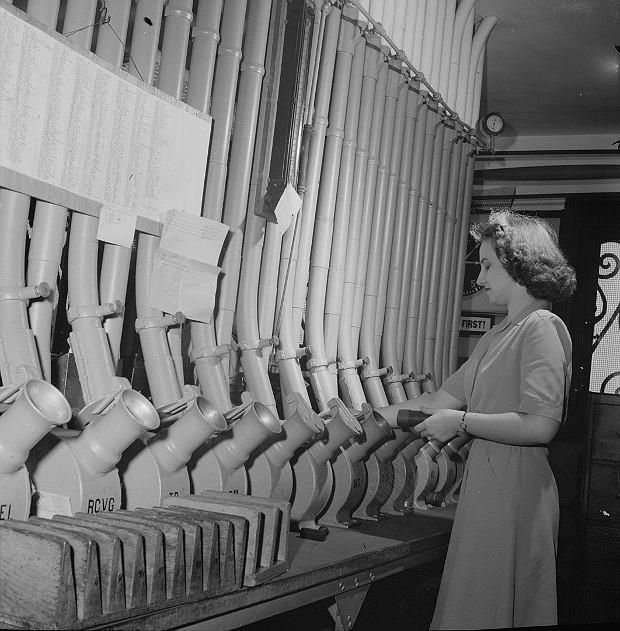 System poczty pneumatycznej z 1943 roku