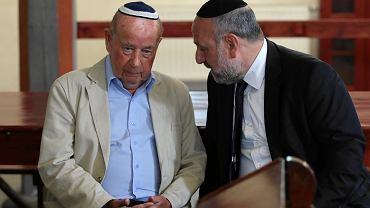 Tadeusz Jakubowicz oraz naczelny rabin Polski Michael Schudrich