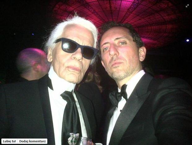 Karl Lagerfeld, Gad Elmaleh