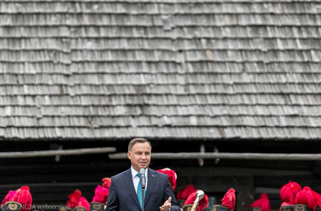 Prezydent Andrzej Duda podczas wizyty w Chorzowie
