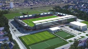 Wizualizacja stadionu Rakowa Częstochowa po przebudowie