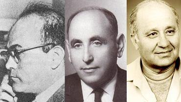 Szefowie Mosadu: Reuwen Sziloah (1951-1952), Isser Harel (1952-1963), Icchak Hofi (1974-1982)